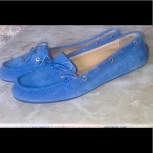 Talbots blue suede driving moccasin